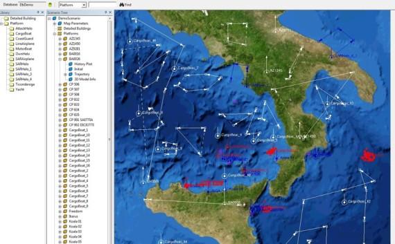 EXERCISE CGF - Tactical Scenario Generator - Control Map