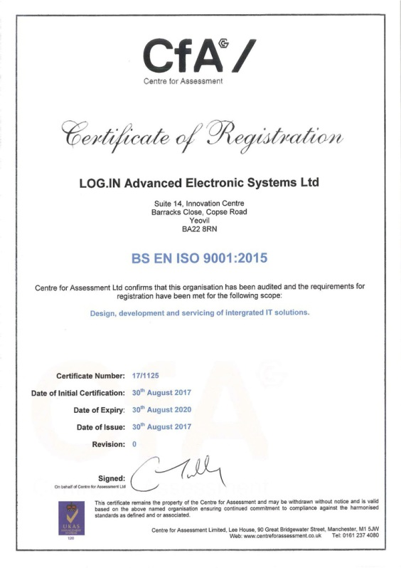 ISO 9001:2008 Quality Assurance Certificate
